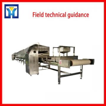 100KW Tunnel Wood Pieces Microwave Drying Sterilization Machine